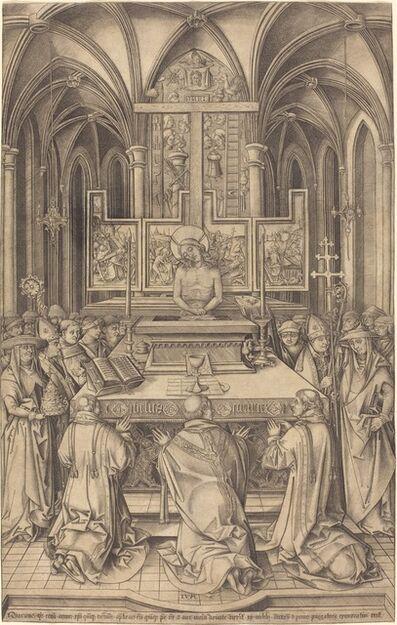 Israhel van Meckenem, 'The Mass of Saint Gregory', ca. 1490/1500