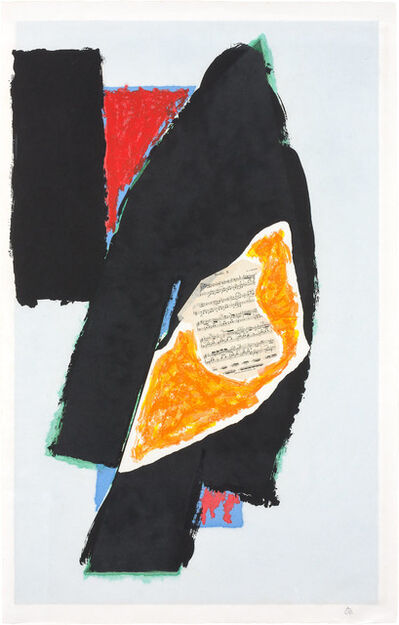 Robert Motherwell, 'BLACK FOR MOZART (E./B. 521)', 1991