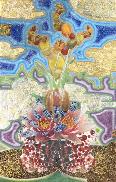 Masatake Kozaki, 'KUCHINASHIBURIDINGUSUIREN (Gardenia-Breeding-Water lily)', 2020
