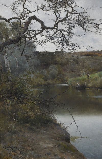 Emilio Sanchez-Perrier, 'A Peaceful Moment in Acala', 1886