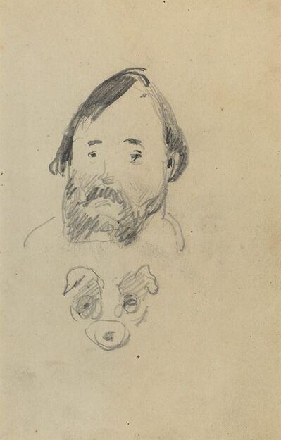 Paul Gauguin, 'Head of a Bearded Man with a Head of a Dog [recto]', 1884-1888