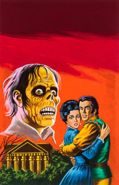 'Untitled (Couple embracing while zombie figure looks on)', c. 1960-75