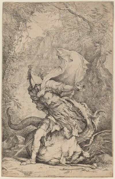 Salvator Rosa, 'Jason and the Dragon', ca. 1663/1664
