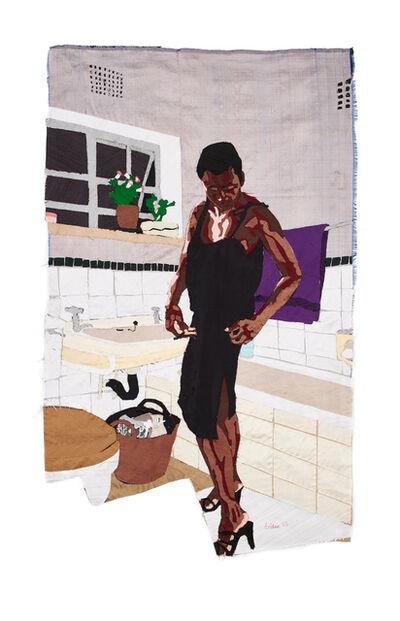 Billie Zangewa, 'back to black', 2015