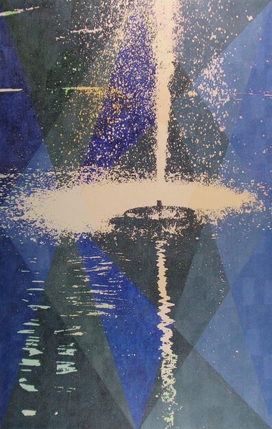 Martin Bennett, 'Static Image Painting/Blue/Fountain/Moose Jaw', 2007