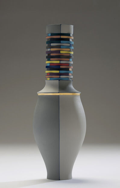 Peter Pincus, 'All Colored Vase with Navy Seams', 2016
