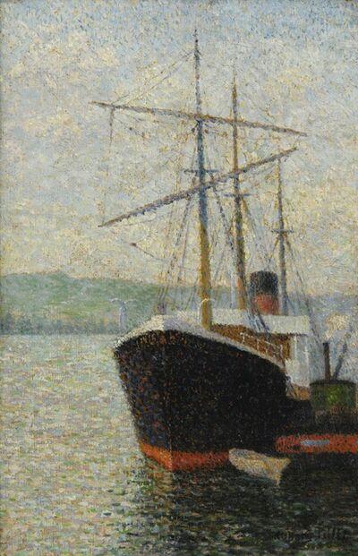 Albert Dubois-Pillet, 'Trois-mâts à quai', 1886
