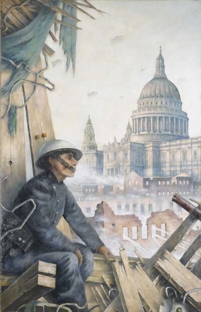 Frank Potter, 'Self Portrait as an Auxilary Firemen', ca. 1941