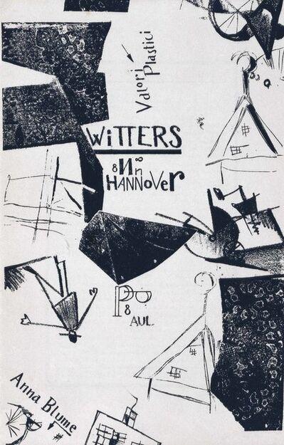 Kurt Schwitters, 'Die Kathedrale, Paul Steegemann, Hanover, 1920'