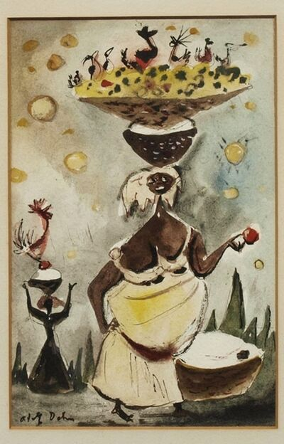 Adolf Arthur Dehn, 'Haitian Scene #7 ', ca. 1951