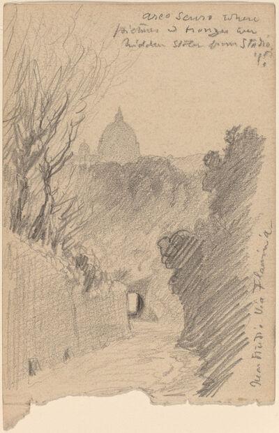 Elihu Vedder, 'Arco Oscuro--Over the Via Fiaminia', ca. 1890