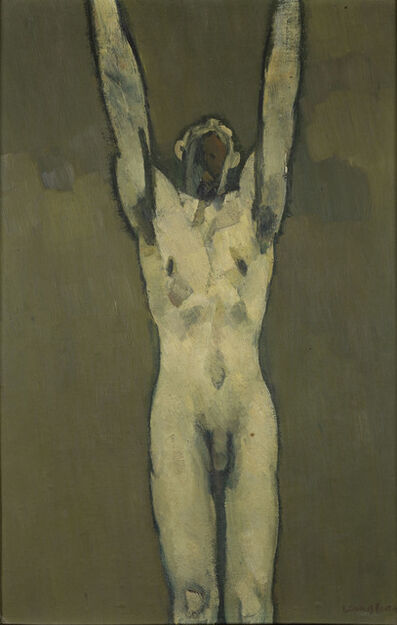 Keith Vaughan, 'Nude with Raised Arms', 1958
