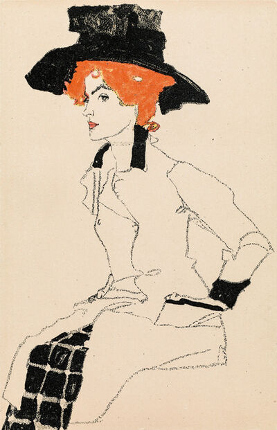 Egon Schiele, 'Portrait of a Woman', 1910