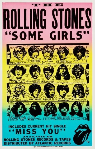 The Rolling Stones, ''Some Girls' Album Poster', 1978