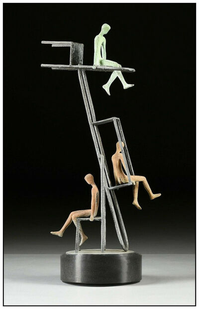 Tolla Inbar, 'Tolla Inbar Leisure Renewing Forces Signed Bronze Sculpture Figurative Large Art', 20th Century