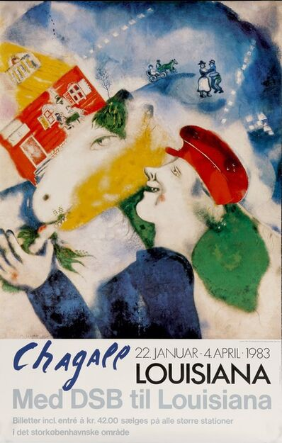 Marc Chagall, 'Marc Chagall, Louisiana Museum of Modern art in Humlebaek, Denmark, MED DSB til Louisiana', 1983