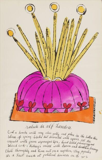 Andy Warhol, 'Salade de Alf Landon (from Wild Raspberries) (see Feldman & Schellmann IV.126.A)', 1959