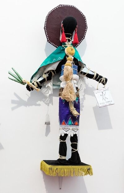 Andrew Gilbert, ''Zulu Sangoma Doll - with Leek Phone'', 2018