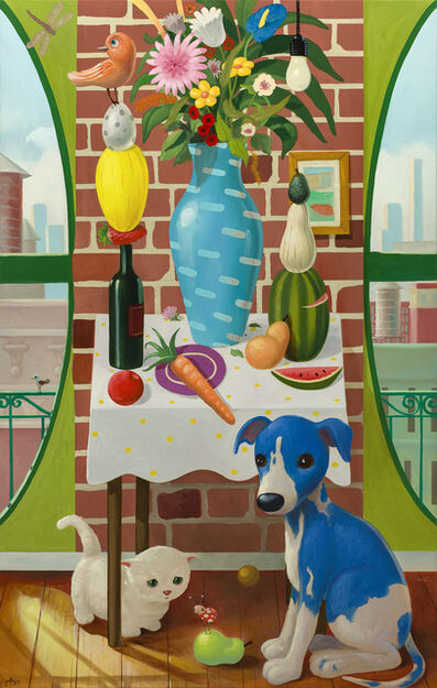 Geoffrey Gersten, 'Still Life With Vase and Puppy ', 2019