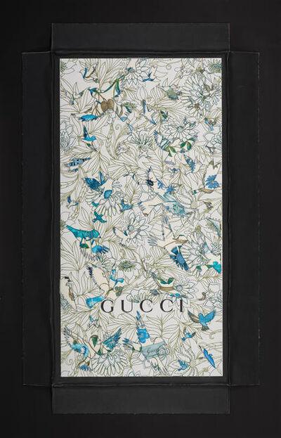 Stephen Wilson, 'XXL Gucci Silk Birds', 2019