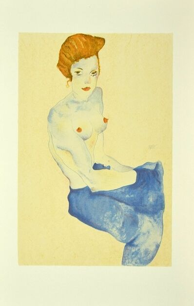 Egon Schiele, 'Seated Girl with Bare Torso', 2007