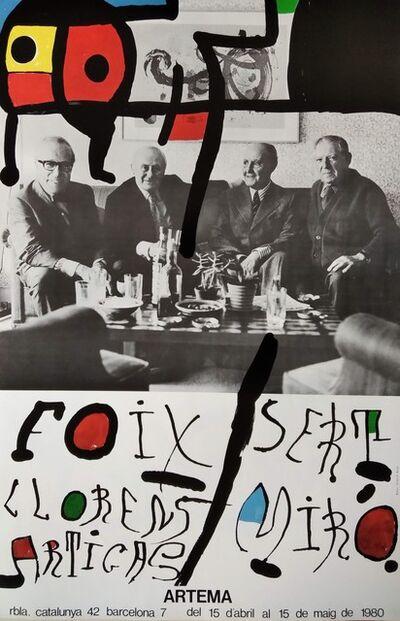 Joan Miró, 'Sert - Miró - Foix - Llorens Artigas, 1980', 1980