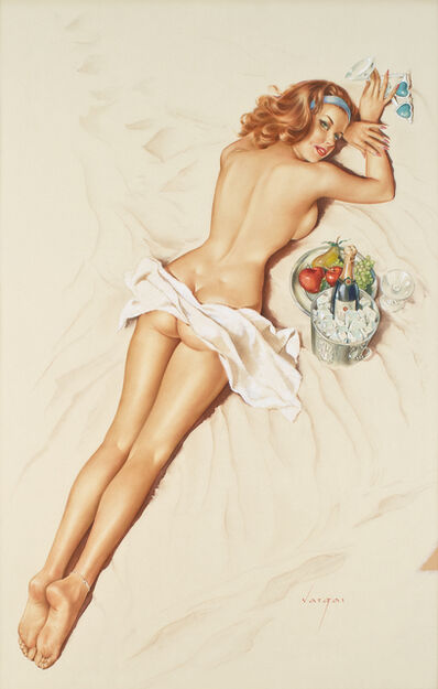 "Alberto Vargas, 'You're Really Forgetful Darling. That's the Third Time You've Covered Me with Suntan Lotion""', 1966"