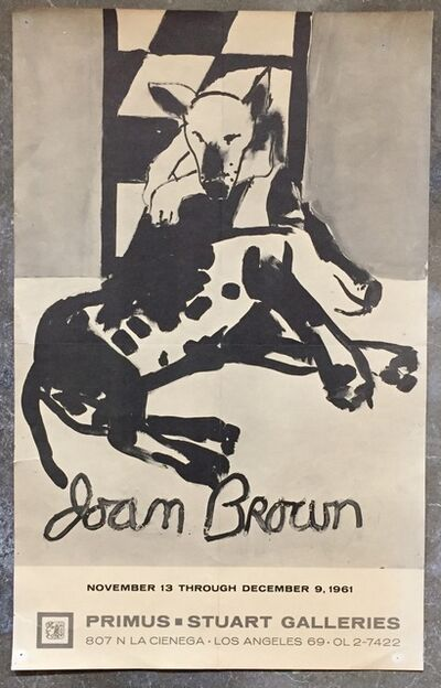 Joan Brown, 'Vintage Exhibition Poster', 1961