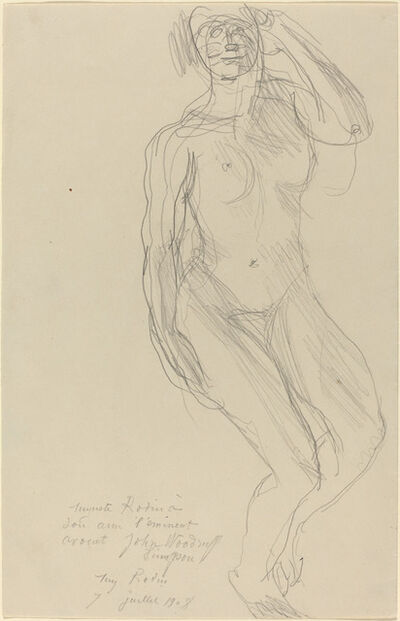 Auguste Rodin, 'Seated Female Nude Looking Forward', 1908