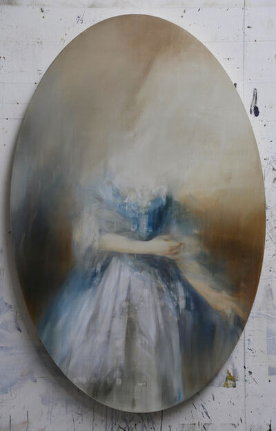 Jake Wood-Evans, 'Study for Mrs William Villebois, after Gainsborough', 2019