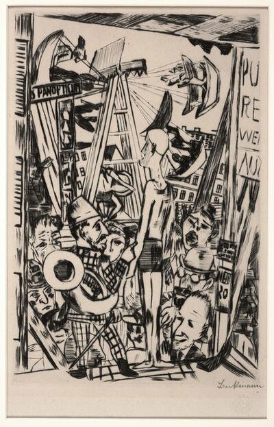 Max Beckmann, 'The Tall Man (Der Grosse Mann), plate V from The Annual Fair', 1921