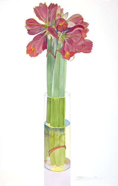 Gary Bukovnik, 'Amaryllis in a Tall Vase', 2018