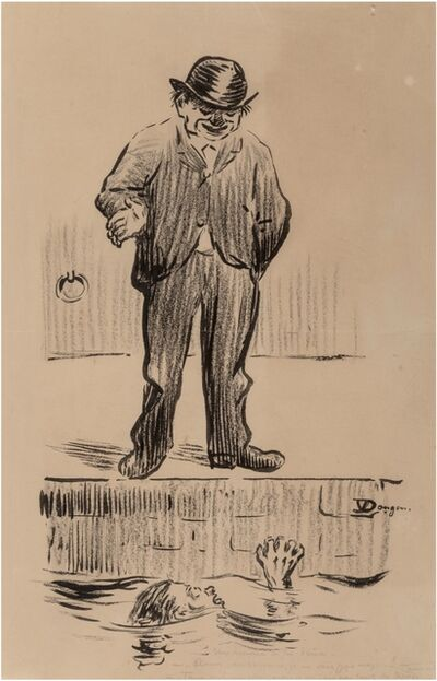 Kees van Dongen, 'La leçon de natation', Vers 1900
