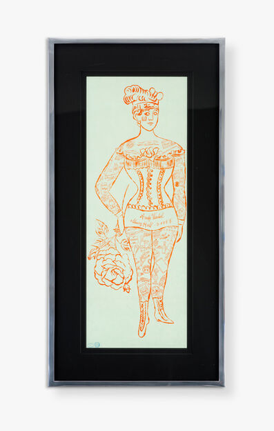 Andy Warhol, 'Tattooed Woman Holding a Rose'