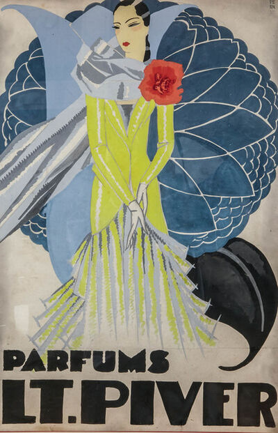 Unknown Artist, 'Orignal watercolor for a LT. Piver perfume advertising', ca. 1925