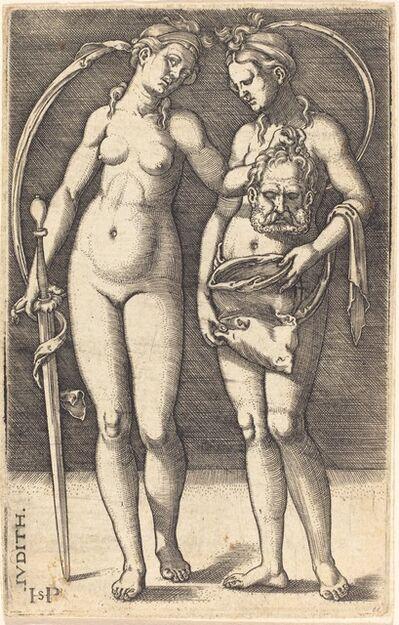 Sebald Beham, 'Judith and Her Servant Standing'