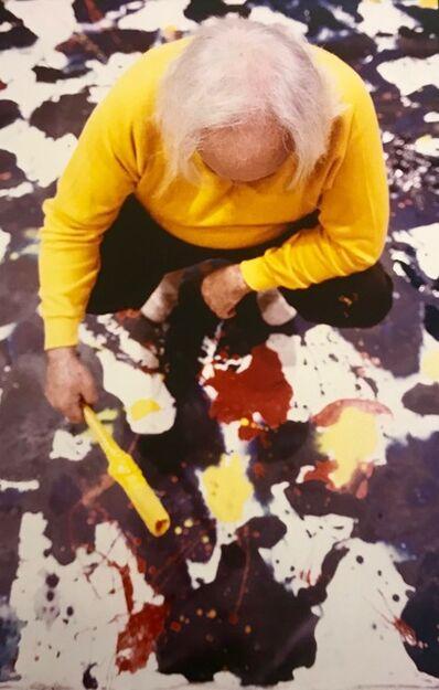Kurt Blum, 'Sam Francis at work', 1980