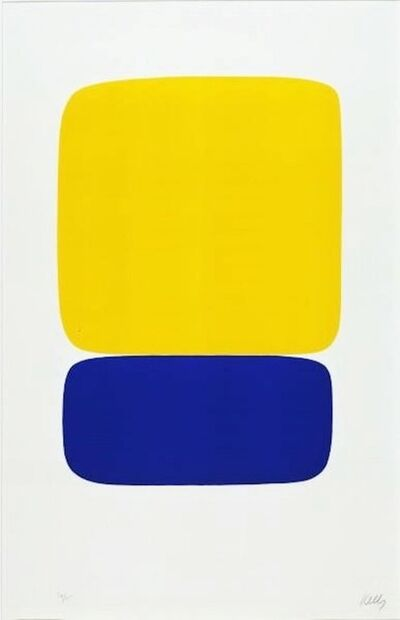 Ellsworth Kelly, 'Yellow Over Dark Blue', 1964-65