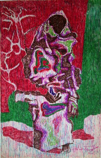 A P Santhanaraj, 'Untitled (Veiled woman)', Undated