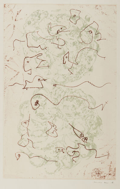 Max Ernst, 'Plate from Les Chiens Ont Soif', 1964