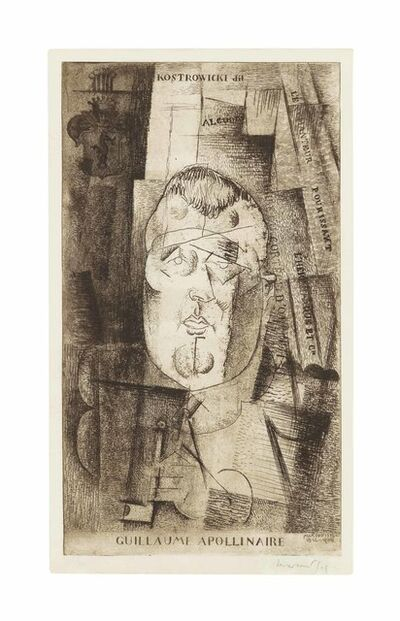 Louis Marcoussis, 'Guillaume Apollinaire', 1912-20