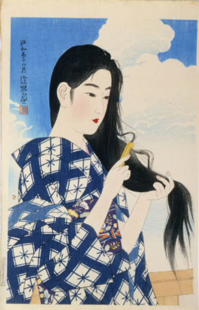 Itō Shinsui, 'The Second Collection of Modern Beauties: After Washing her Hair', 1936