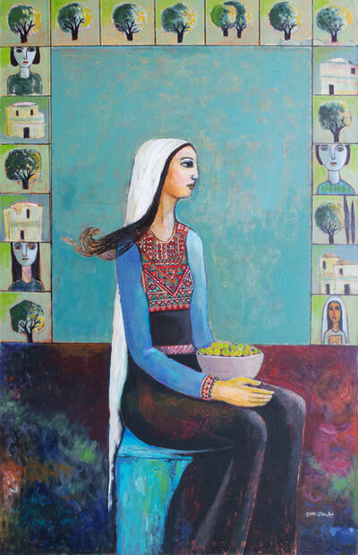 Nabil Anani, 'Seated Woman', 2010