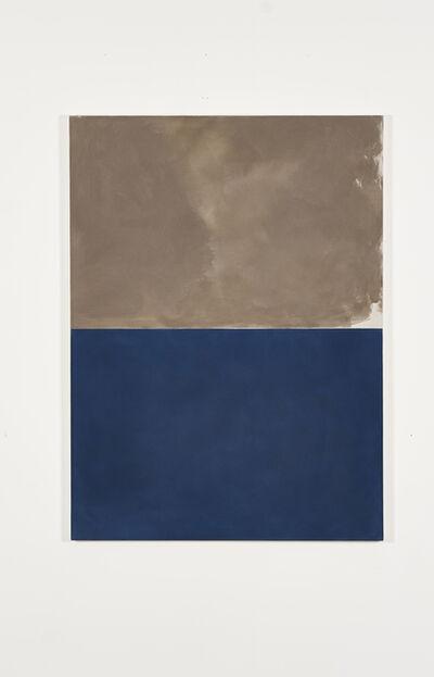 Peter Joseph, 'Bronze over deep blue', 2005