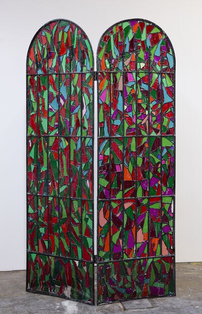 Samara Golden, 'Missing Pieces from A Trap in Soft Division (Stained Glass Window #3)', 2016