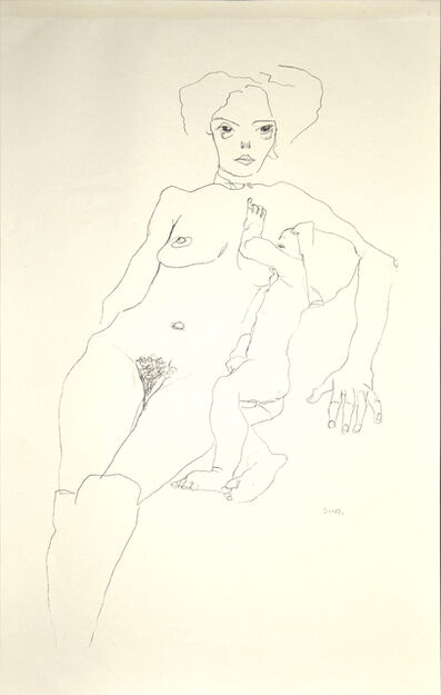 Egon Schiele, 'Mother and Child', 1920