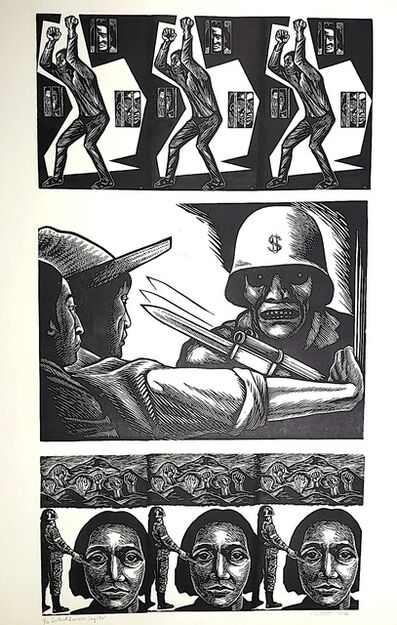 Elizabeth Catlett, 'Central America Says No', 1986