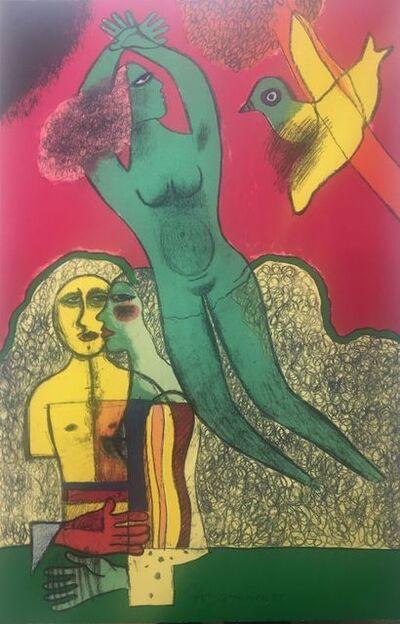 Corneille, 'Nu vert et personnages ', 1983