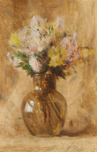 Dwight William Tryon, 'Chrysanthemums', 1890