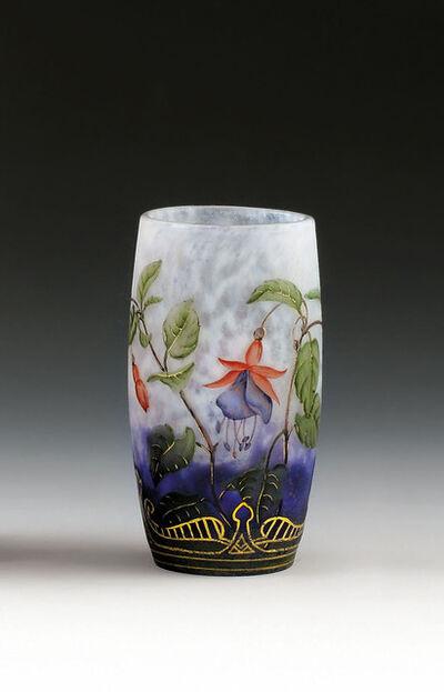 DAUM Nancy, 'Vase with fuchsias', 1900
